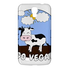 Friends Not Food   Cute Cow Samsung Galaxy Mega 6 3  I9200 Hardshell Case by Valentinaart