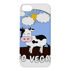 Friends Not Food   Cute Cow Apple Iphone 5s/ Se Hardshell Case by Valentinaart
