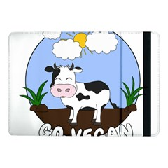 Friends Not Food   Cute Cow Samsung Galaxy Tab Pro 10 1  Flip Case by Valentinaart