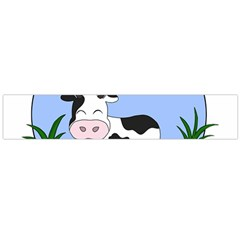 Friends Not Food   Cute Cow Large Flano Scarf  by Valentinaart
