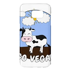 Friends Not Food   Cute Cow Samsung Galaxy S7 Edge Hardshell Case