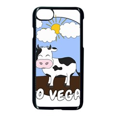 Friends Not Food   Cute Cow Apple Iphone 8 Seamless Case (black) by Valentinaart