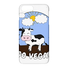 Friends Not Food   Cute Cow Apple Iphone 8 Plus Hardshell Case