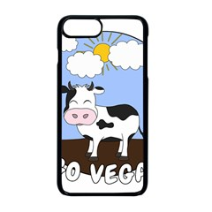 Friends Not Food   Cute Cow Apple Iphone 8 Plus Seamless Case (black) by Valentinaart