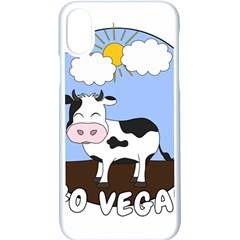 Friends Not Food   Cute Cow Apple Iphone X Seamless Case (white)