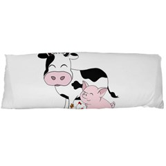 Friends Not Food   Cute Cow, Pig And Chicken Body Pillow Case Dakimakura (two Sides) by Valentinaart