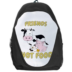 Friends Not Food   Cute Cow, Pig And Chicken Backpack Bag by Valentinaart