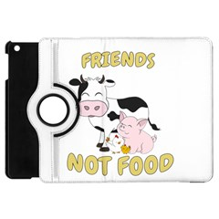 Friends Not Food   Cute Cow, Pig And Chicken Apple Ipad Mini Flip 360 Case