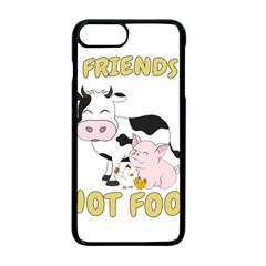 Friends Not Food   Cute Cow, Pig And Chicken Apple Iphone 7 Plus Seamless Case (black)