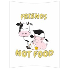 Friends Not Food   Cute Cow, Pig And Chicken Back Support Cushion by Valentinaart