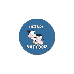 Friends Not Food   Cute Cow, Pig And Chicken Golf Ball Marker (10 Pack) by Valentinaart