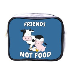 Friends Not Food   Cute Cow, Pig And Chicken Mini Toiletries Bags by Valentinaart