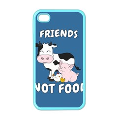 Friends Not Food   Cute Cow, Pig And Chicken Apple Iphone 4 Case (color) by Valentinaart