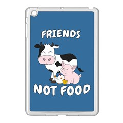 Friends Not Food   Cute Cow, Pig And Chicken Apple Ipad Mini Case (white) by Valentinaart
