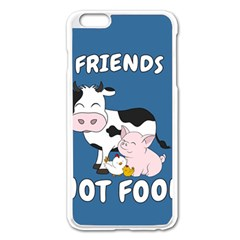 Friends Not Food   Cute Cow, Pig And Chicken Apple Iphone 6 Plus/6s Plus Enamel White Case by Valentinaart