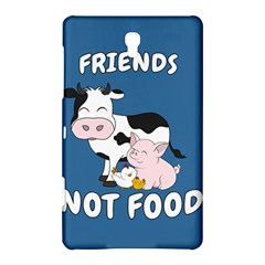 Friends Not Food   Cute Cow, Pig And Chicken Samsung Galaxy Tab S (8 4 ) Hardshell Case  by Valentinaart