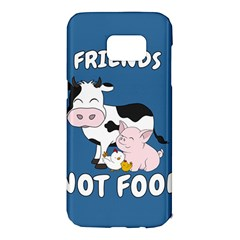 Friends Not Food   Cute Cow, Pig And Chicken Samsung Galaxy S7 Edge Hardshell Case