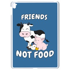 Friends Not Food   Cute Cow, Pig And Chicken Apple Ipad Pro 9 7   White Seamless Case by Valentinaart