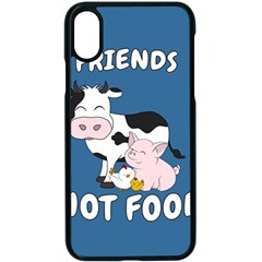 Friends Not Food   Cute Cow, Pig And Chicken Apple Iphone X Seamless Case (black) by Valentinaart