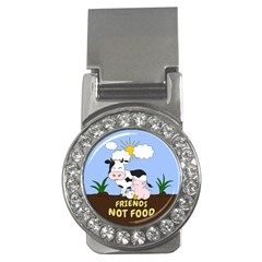 Friends Not Food   Cute Cow, Pig And Chicken Money Clips (cz)  by Valentinaart