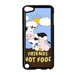 Friends Not Food   Cute Cow, Pig And Chicken Apple Ipod Touch 5 Case (black) by Valentinaart