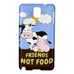 Friends Not Food   Cute Cow, Pig And Chicken Samsung Galaxy Note 3 N9005 Hardshell Case by Valentinaart