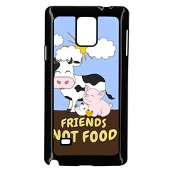 Friends Not Food   Cute Cow, Pig And Chicken Samsung Galaxy Note 4 Case (black)