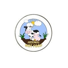 Friends Not Food   Cute Cow, Pig And Chicken Hat Clip Ball Marker (10 Pack)