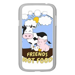 Friends Not Food - Cute Cow, Pig And Chicken Samsung Galaxy Grand Duos I9082 Case (white) by Valentinaart