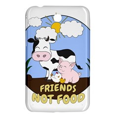 Friends Not Food   Cute Cow, Pig And Chicken Samsung Galaxy Tab 3 (7 ) P3200 Hardshell Case  by Valentinaart