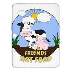 Friends Not Food   Cute Cow, Pig And Chicken Samsung Galaxy Tab 3 (10 1 ) P5200 Hardshell Case  by Valentinaart