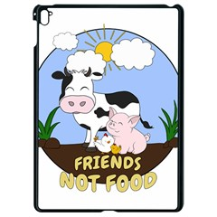 Friends Not Food   Cute Cow, Pig And Chicken Apple Ipad Pro 9 7   Black Seamless Case by Valentinaart