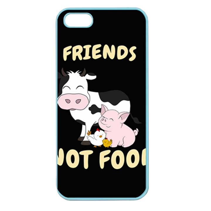 Friends Not Food - Cute Cow, Pig and Chicken Apple Seamless iPhone 5 Case (Color)