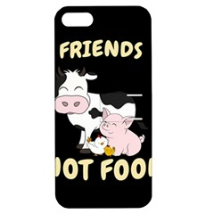 Friends Not Food   Cute Cow, Pig And Chicken Apple Iphone 5 Hardshell Case With Stand