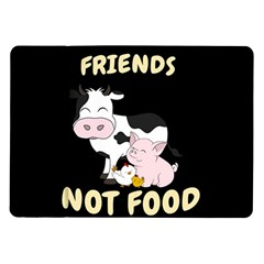 Friends Not Food   Cute Cow, Pig And Chicken Samsung Galaxy Tab 10 1  P7500 Flip Case by Valentinaart