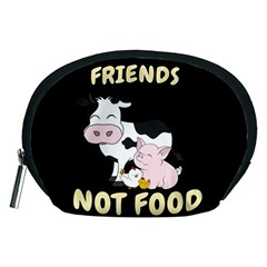 Friends Not Food   Cute Cow, Pig And Chicken Accessory Pouches (medium)  by Valentinaart