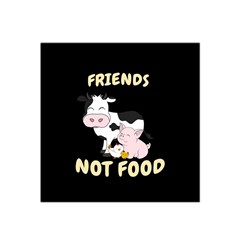 Friends Not Food   Cute Cow, Pig And Chicken Satin Bandana Scarf by Valentinaart