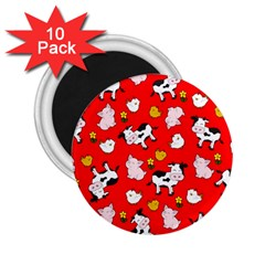 The Farm Pattern 2 25  Magnets (10 Pack)  by Valentinaart