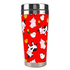 The Farm Pattern Stainless Steel Travel Tumblers by Valentinaart