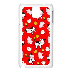 The Farm Pattern Samsung Galaxy Note 3 N9005 Case (white) by Valentinaart