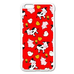 The Farm Pattern Apple Iphone 6 Plus/6s Plus Enamel White Case
