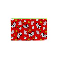 The Farm Pattern Cosmetic Bag (xs) by Valentinaart