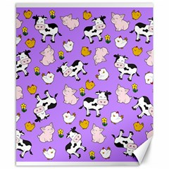 The Farm Pattern Canvas 8  X 10  by Valentinaart