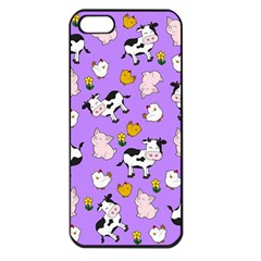 The Farm Pattern Apple Iphone 5 Seamless Case (black) by Valentinaart