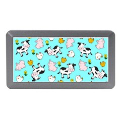 The Farm Pattern Memory Card Reader (mini) by Valentinaart