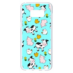 The Farm Pattern Samsung Galaxy S8 Plus White Seamless Case