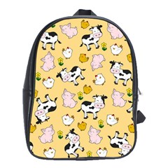 The Farm Pattern School Bag (large) by Valentinaart