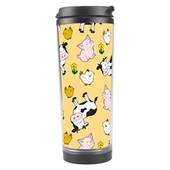 The Farm Pattern Travel Tumbler by Valentinaart