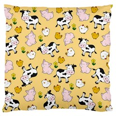 The Farm Pattern Standard Flano Cushion Case (two Sides) by Valentinaart
