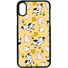 The Farm Pattern Apple Iphone X Seamless Case (black) by Valentinaart